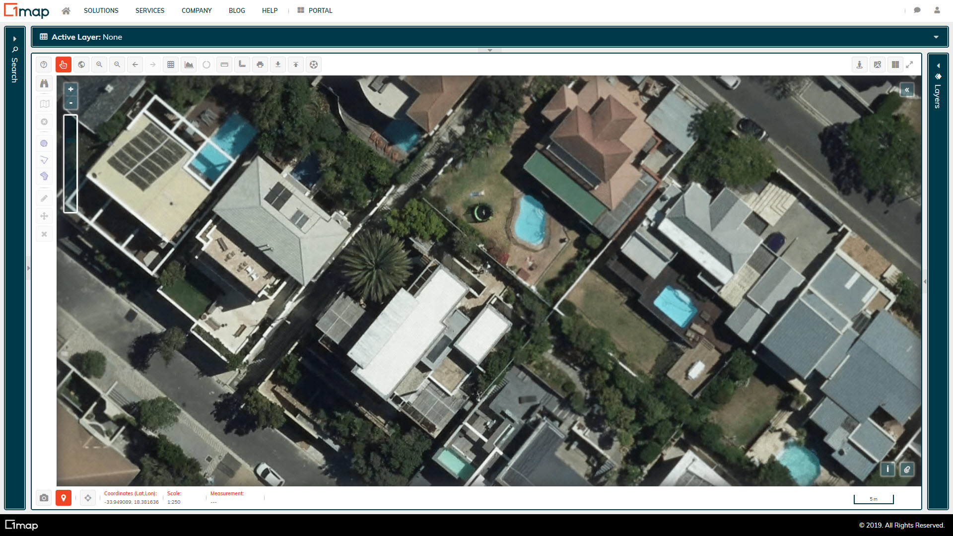 A screenshot of the Cape Town Aerial Imagery layer.