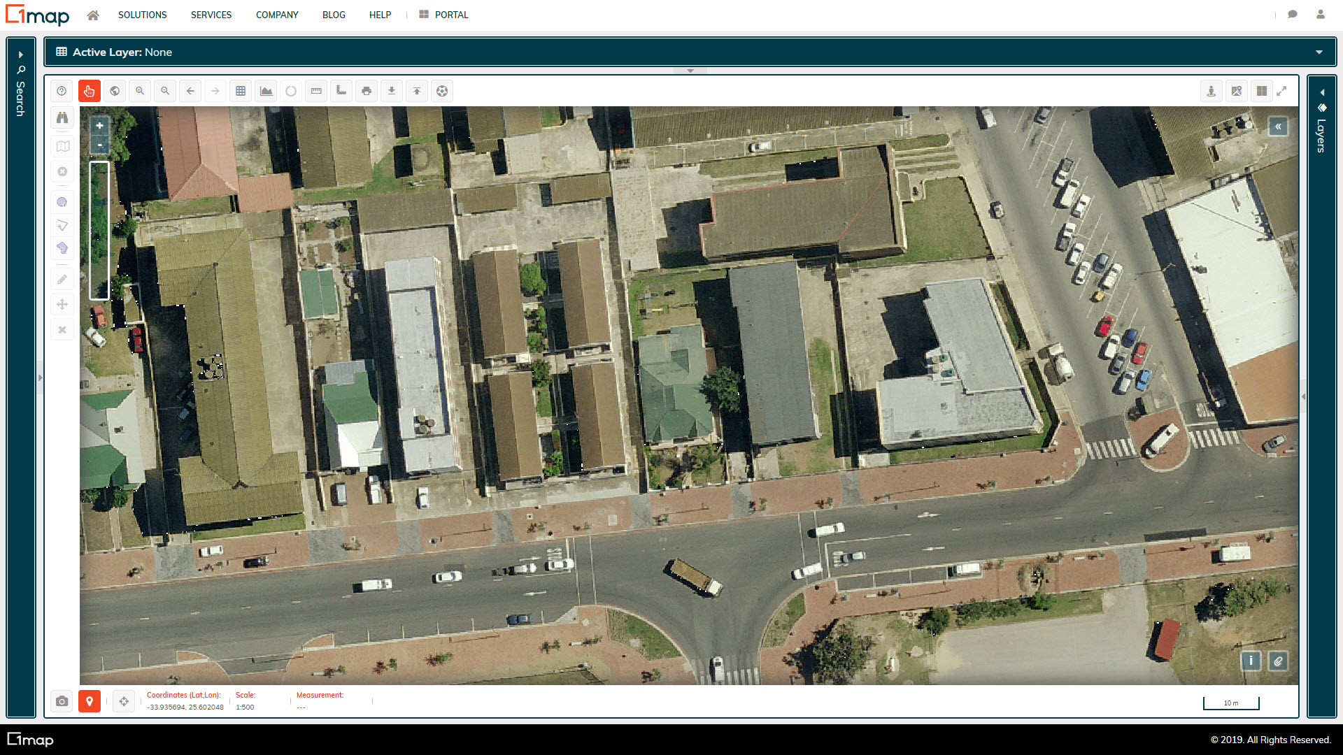A screenshot of the Nelson Mandela Bay Aerial Imagery layer.